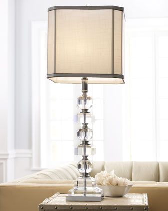 Stacked crystals table lamp lights master bedroom and chandeliers stacked crystals table lamp neiman marcus aloadofball Images