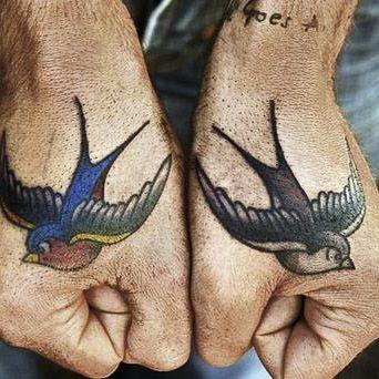 #sparrow #birds #traditional tattoo
