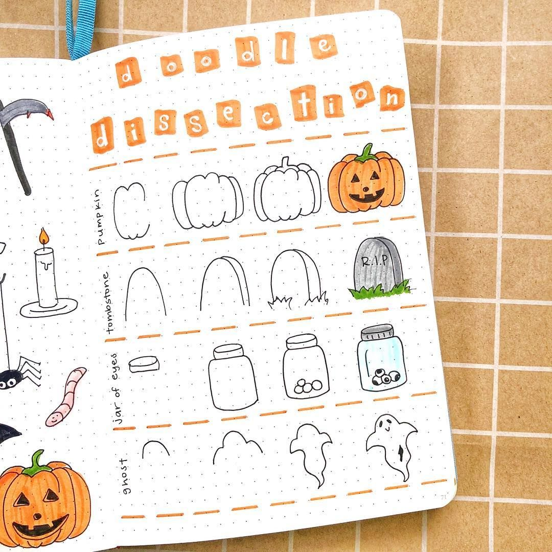 25+ Halloween Doodles You Need in Your Bullet Journal this October!