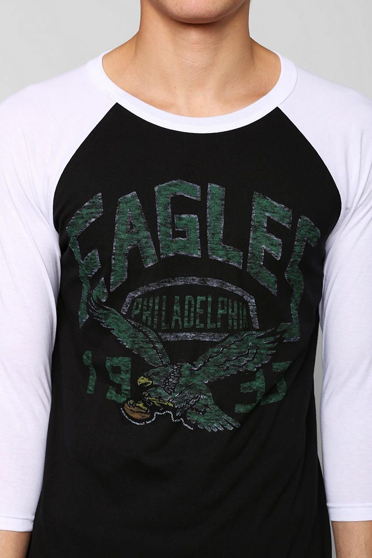 81c117f2b Junk Food NFL Philadelphia Eagles Raglan Tee - Urban Outfitters
