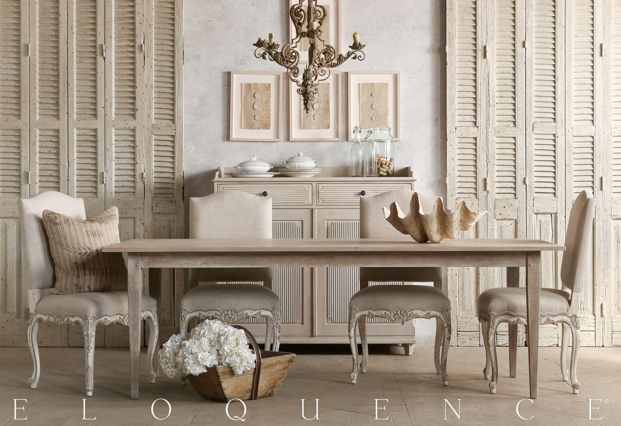 Eloquence tuscano farm table in beach house natural