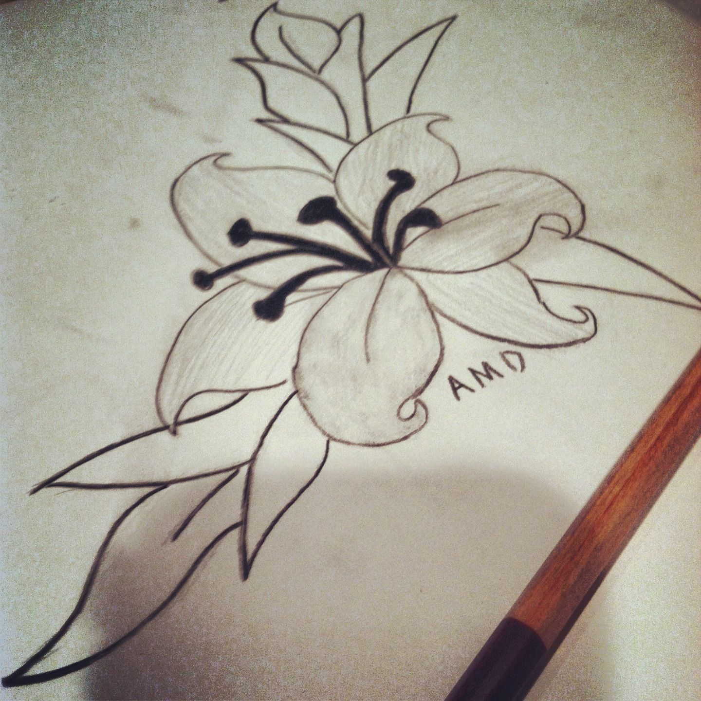 My Grandsons Drawing Of A Flower Things That Make Me Happy