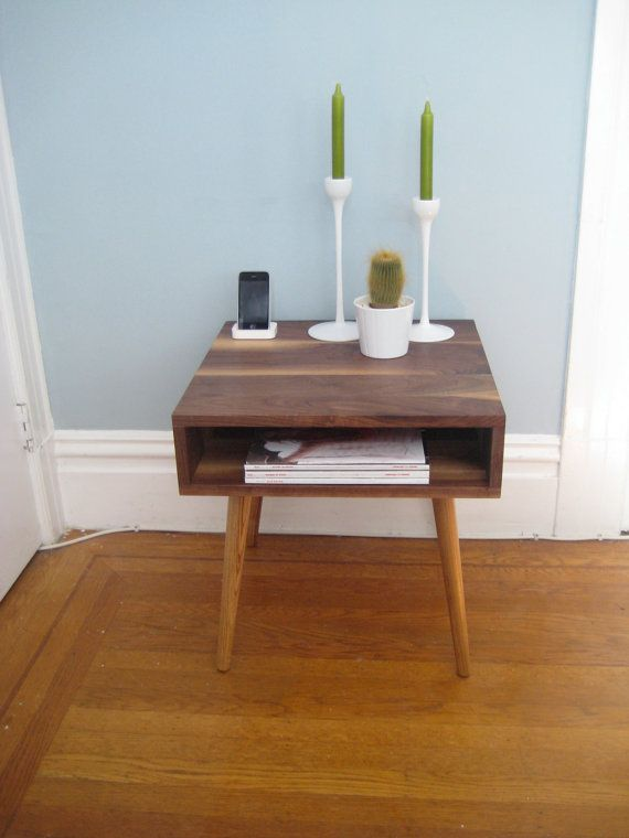 side table Furniture Pinterest Mesas, Madera y Luces