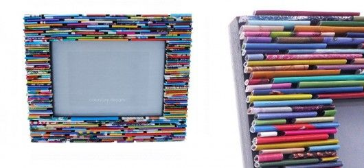Recycled frame for your family green shopping for Useful things to make out of recycled materials