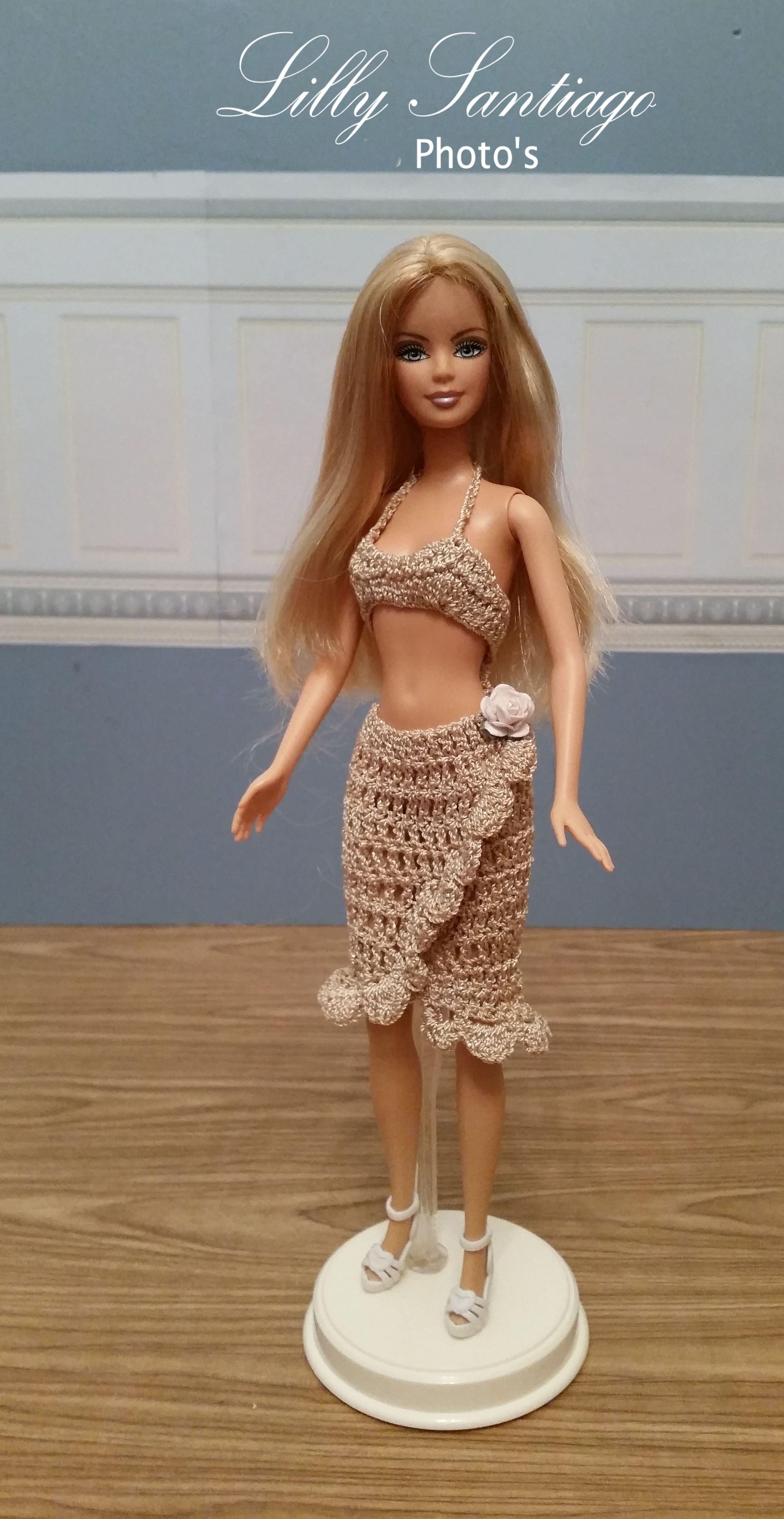 Crochet dress by Lilly Santiago   Crochet-Barbie   Pinterest ...