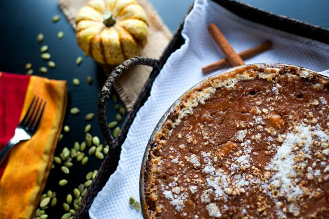Pumpkin Pie Friendsgiving Vegan Gluten Free Coconut Milk Thanksgiving Cinnamon