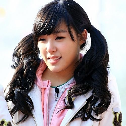Long Black Curly In Pigtails With Bangs  Cute Asian Hair -9433