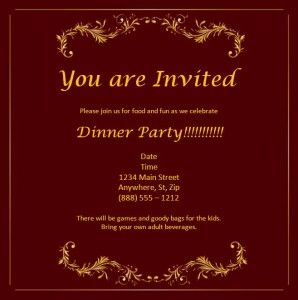 event invitation card