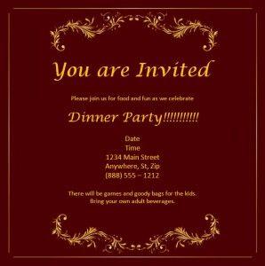 ms word invitation template