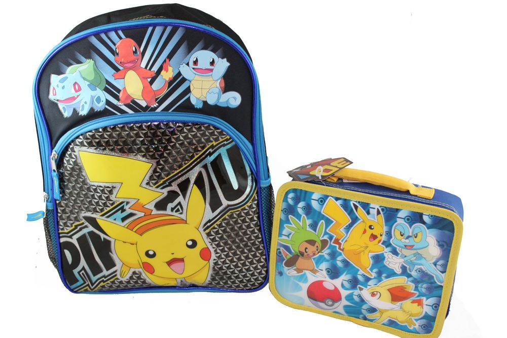 1c1993c753a1 Nintendo Pokemon Pikachu Charizard Backpack and Lunch Box Lunchbox Set 2pc   Nintendo  BackpackandLunchbox