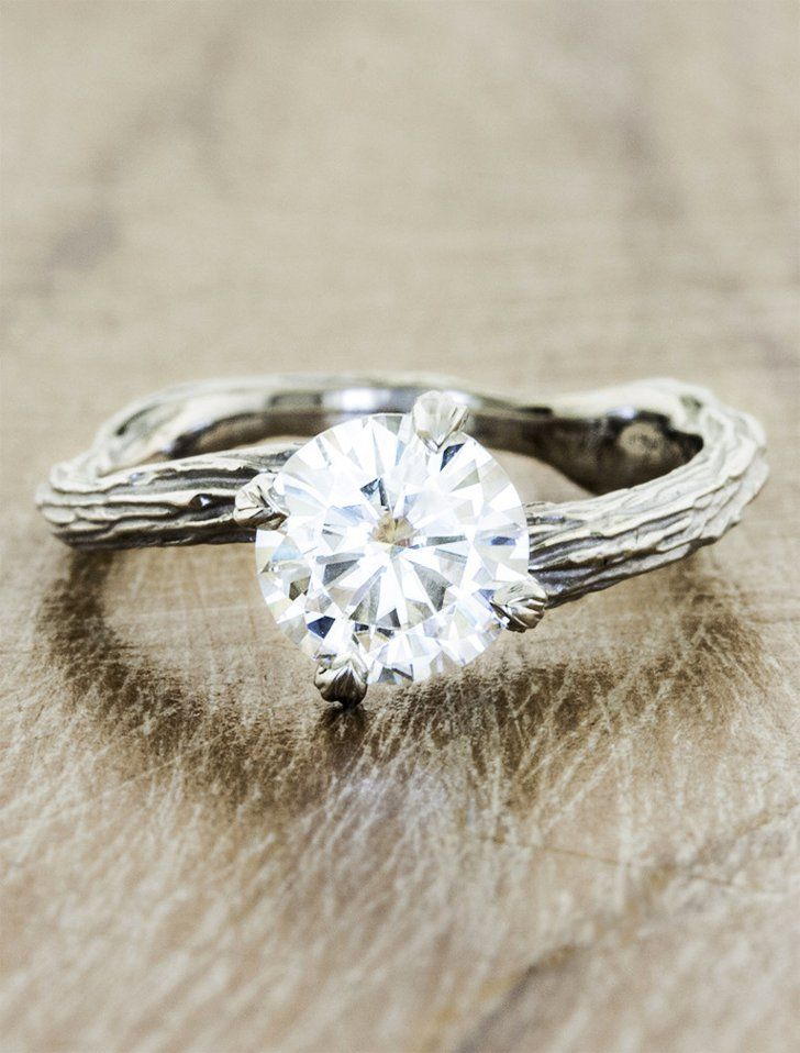 Pin for Later: Looking For a Unique Ring For Your Spring Engagement? Drop a Hint With These 58 Picks  Ken & Dana Design Laurel ring ($1,940-$2,585)