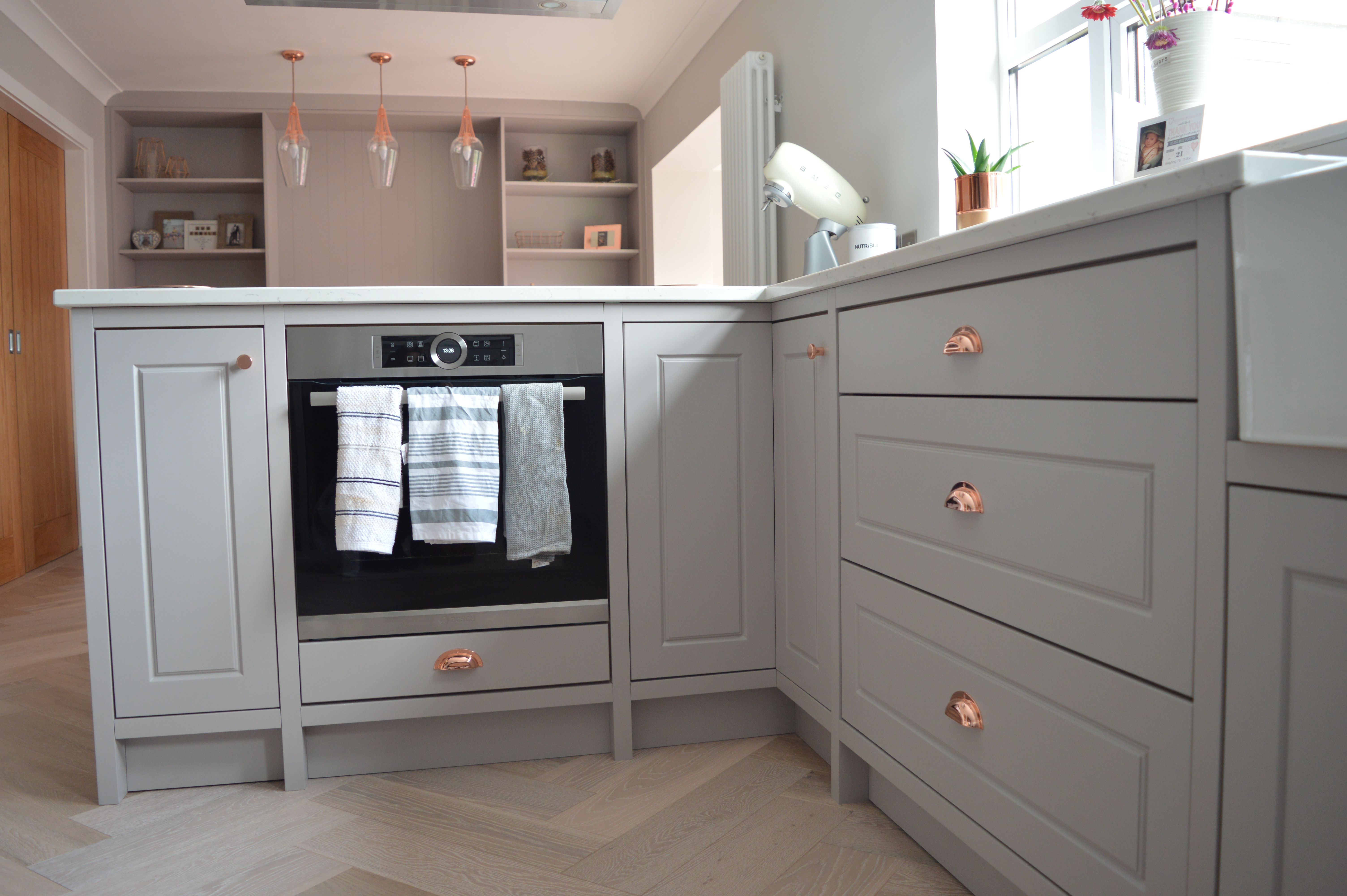 Best Pavillion Grey Shaker With Copper Accents With Images 400 x 300
