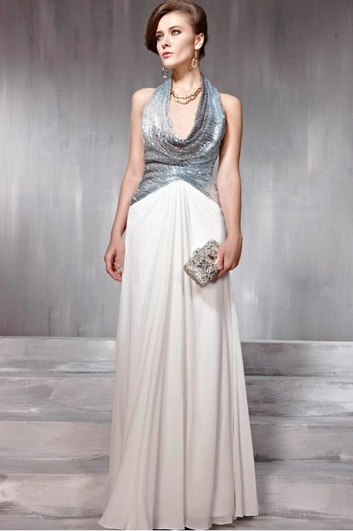 3928efc5260 Gorgeous Couture White Halter Neck Backless Evening Dress - 7568214 ...