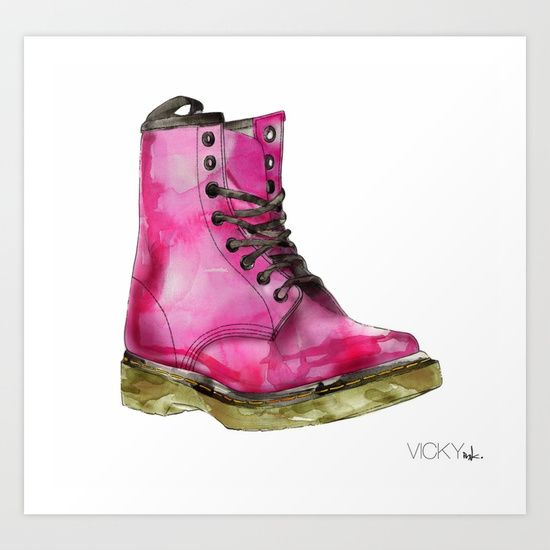 Buy Dr Martens by Vicky Ink.  as a high quality Art Print. Worldwide shipping available at Society6.com. Just one of millions of products available.