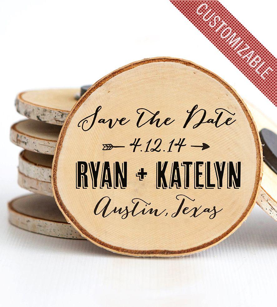 save the date Wood wedding invitations, Diy save