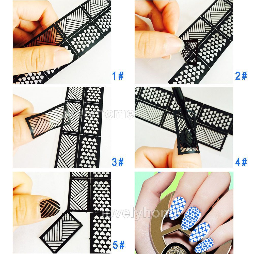 HOT SALE Easy Stamping Tool Nail Art Template Stickers Stamp Stencil ...