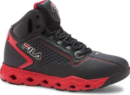 Fila Hombre Big Bang Negro/Negro 3 Ventilated Basketball Zapatos Negro/Negro Bang Rojo e5f85e