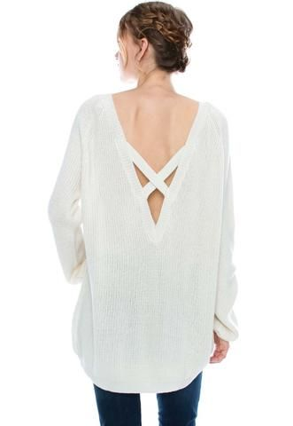 samantha. the must have criss cross back sweater.