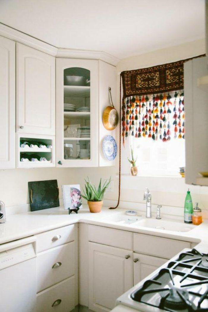 bastelideen selber machen dekoideen DIY IDeen bommel troddel - gardinen ideen küche