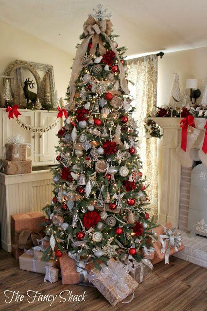 The Fancy Shack Christmas Home Tour Christmas Decorations Christmas Tree Decorations Christmas Tree