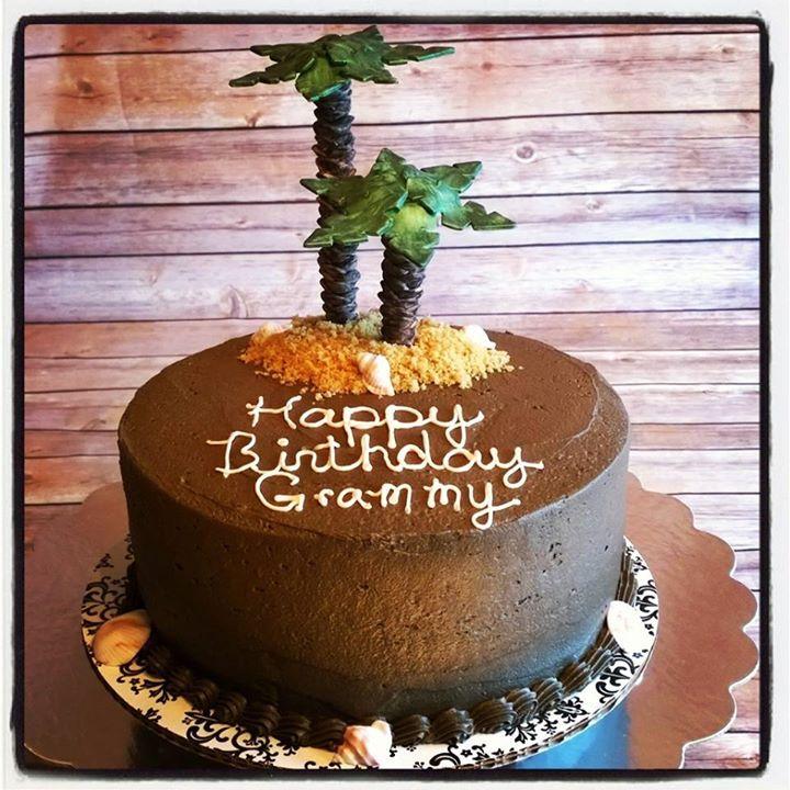 Palm Tree Birthday Cake Kazkakes Pinterest Birthday Cakes