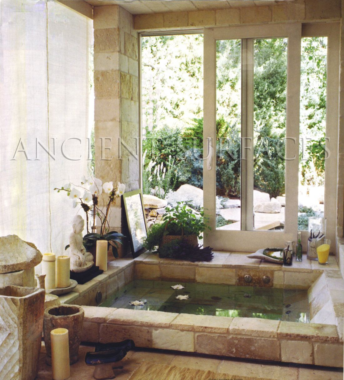 Bathrooms and showers stone floors, walls and counters By Ancient ...