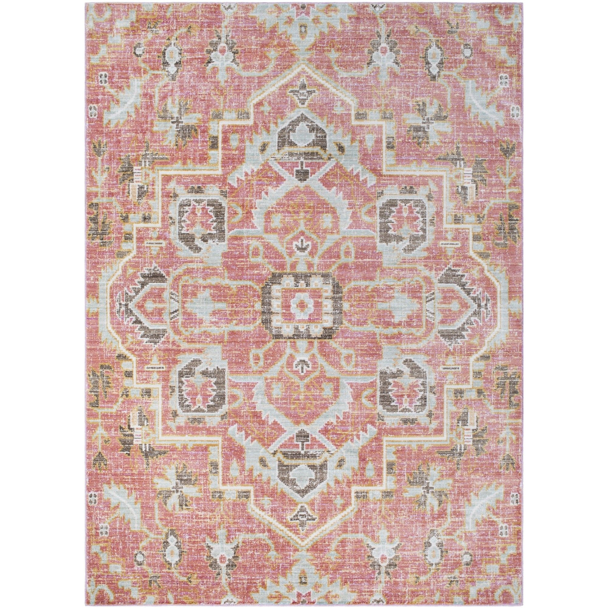 Feminine Bohemian Vibes And Bold Vivid Hues Make Our Anamura Rug A Stunning Piece For Your Floor Pair With A Collection Of E Pink Rug Area Rugs Pink Area Rug