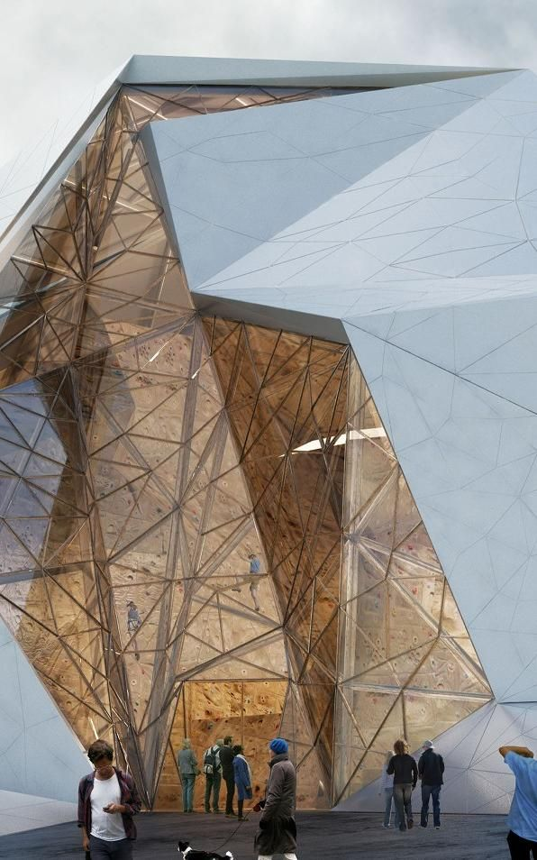 This Rock Climbing Gym Resembles A Big Rock #architecture