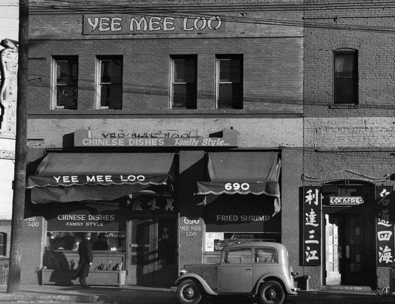 https://flic.kr/p/FGNhqH | Yee Mee Loo Restaurant, 690 Spring Street, 1938 | LAPL
