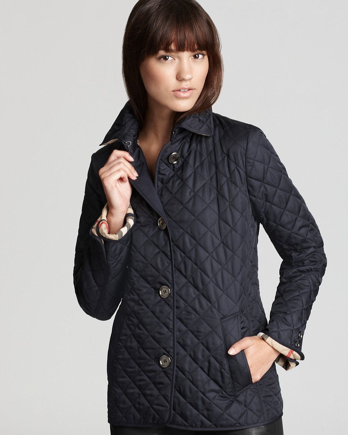 Burberry Brit Copford Quilted Jacket Bloomingdale S Womens Quilted Jacket Quilted Jacket Burberry Quilted Jacket