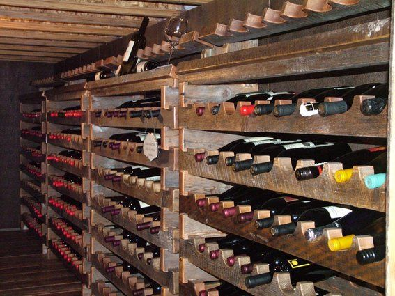 Wine Cellar In Crawl Space Custom Made Custom Barnwood Wine