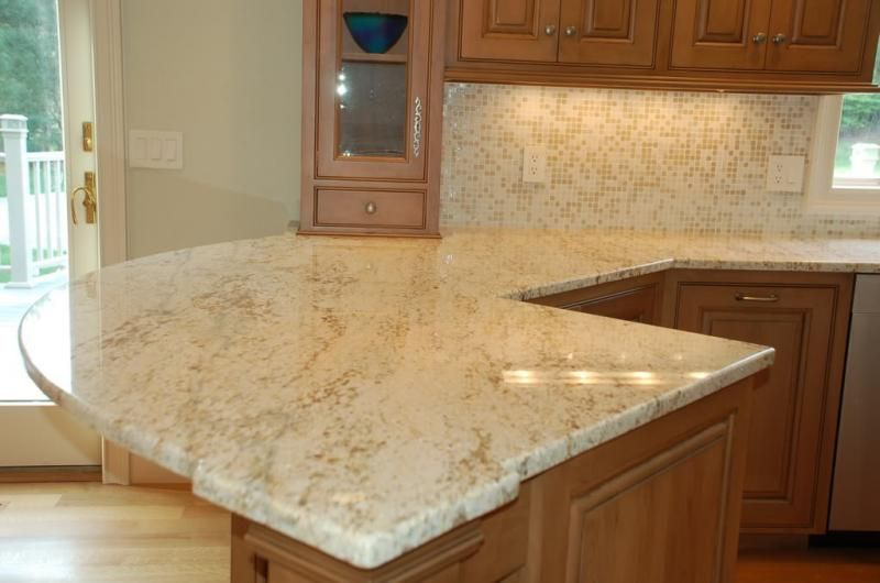 Cream Granite Kitchen Countertops