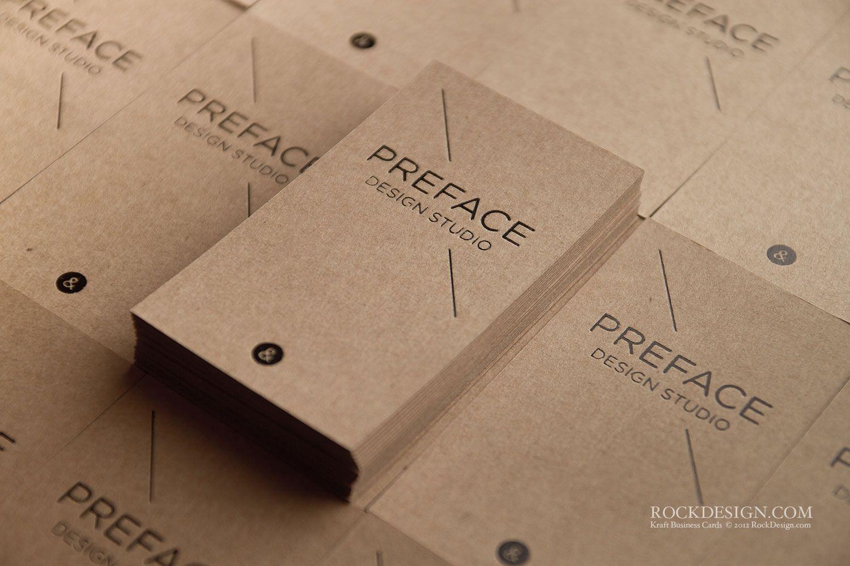 RockDesign.com | High End Business Cards | Brown Kraft Business Card ...
