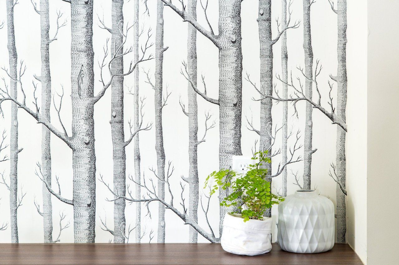 (cole and sons paper) Alison & Jeff's Chill Scandinavian Meets Mid-Century Style