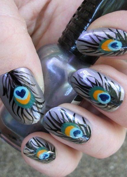 10 Amazing Hand Painted Nail Art Designs Pinterest Nagel En