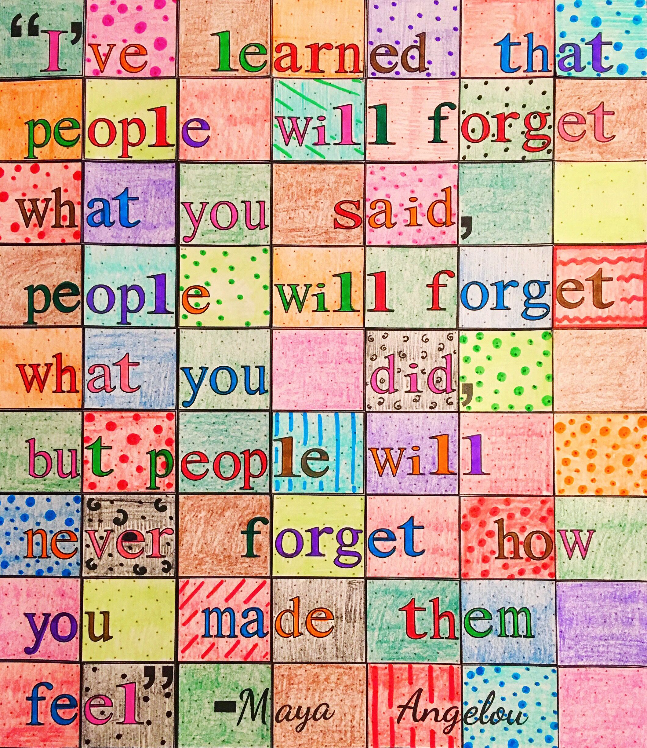 Maya Angelou People Will Never Forget Quote 63 Piece