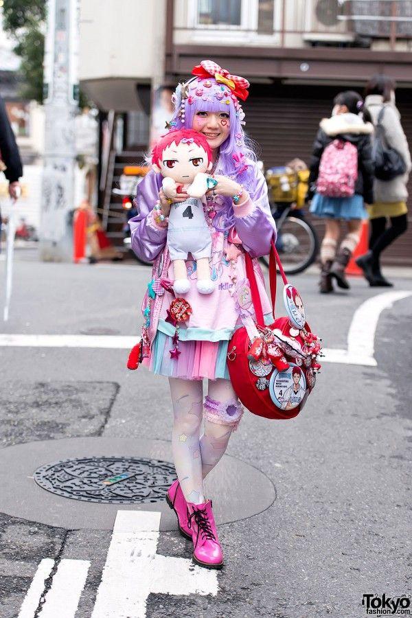 Kuroko's Basketball-loving Decora in Harajuku w/ 6%DOKIDOKI & Milklim tokyofashion.com