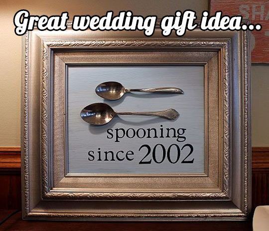 if someone actually gives this to me as a wedding gift, I think I'll die laughing lol....and hang it in my bedroom....over me and my husbands bed