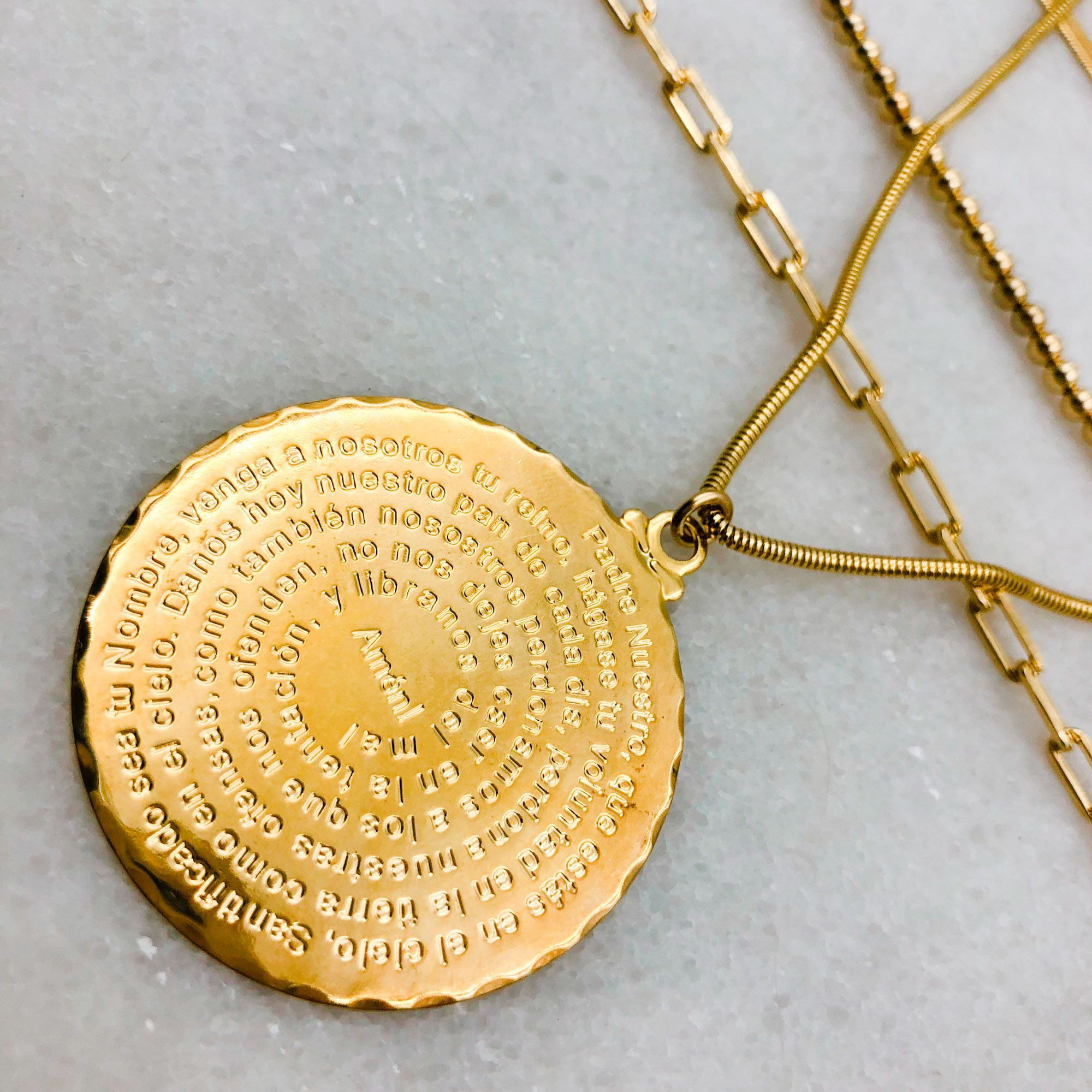 Photo of The Lord's Prayer Pendant Necklace