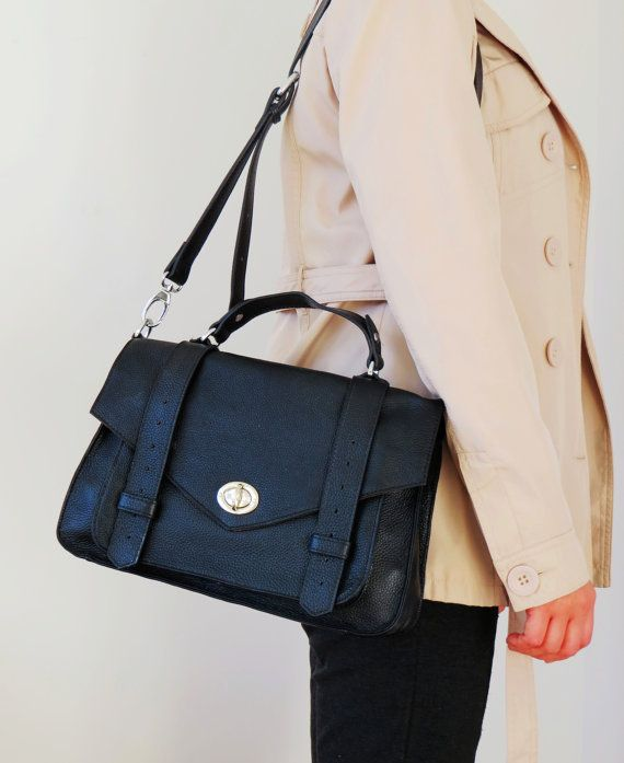 Perfect and simple satchel style purse that can go crossbody. Handmade Nova  Scotia by Adeleshop d88f25207ad0d