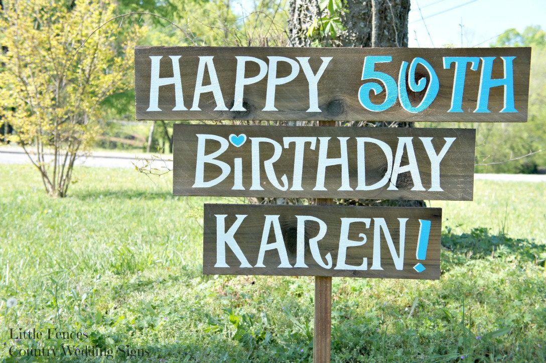 Birthday Party Yard Sign Happy Birthday Sign Birthday Party