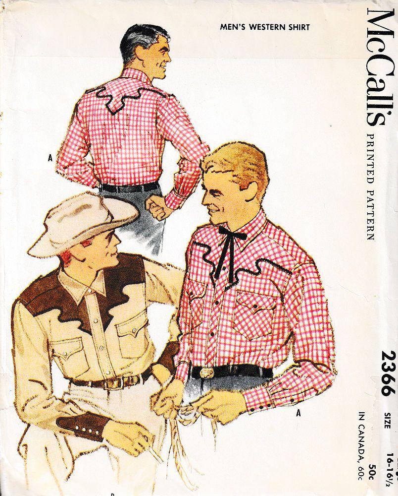Mccalls sewing pattern 2366 1959 vintage western shirt sz l 16 mccalls sewing pattern 2366 1959 vintage western shirt sz l 16 165 jeuxipadfo Images