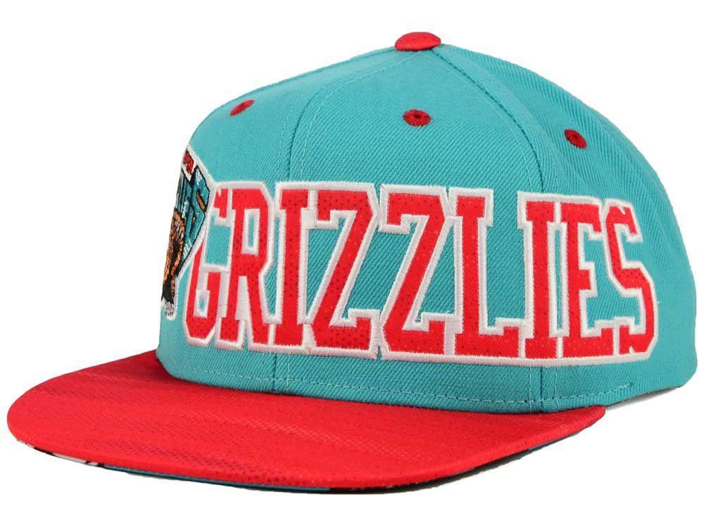 eba5d6e9413 New Adidas Grizzlies 16 NBA Team Jersey Mesh Cap Hat Snapback MSRP  35.99