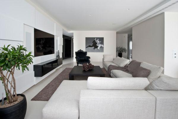 design wohnzimmer braun | rheumri.com. 120 ideen für wohnzimmer ... - Design Wohnzimmer Weis