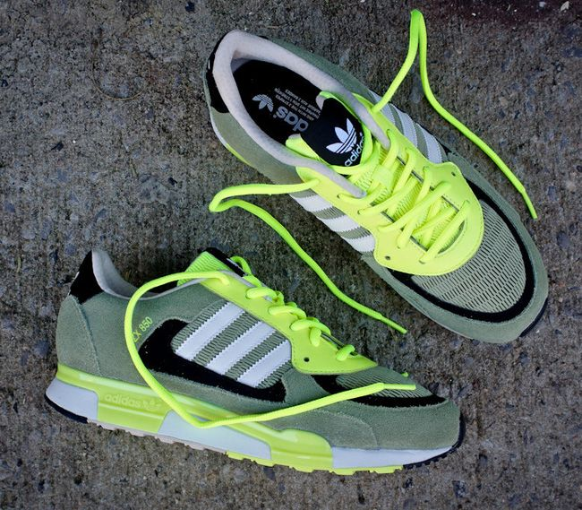 adidas ZX 850: Olive & Electric Green
