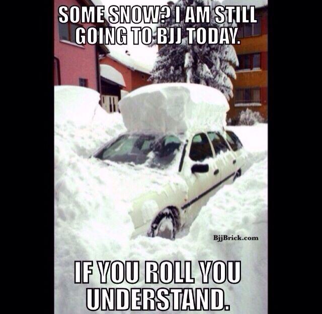 Too Much Snow For Bjj Class Bjjbrick Bjj Humor Bjj Bjj Memes