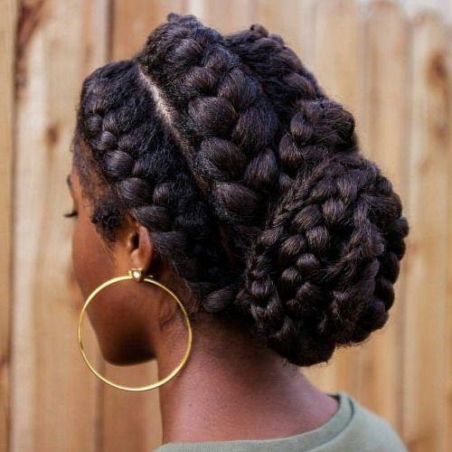 35 Goddess Braids with Weave Hairstyles in 2019 #goddessbraids