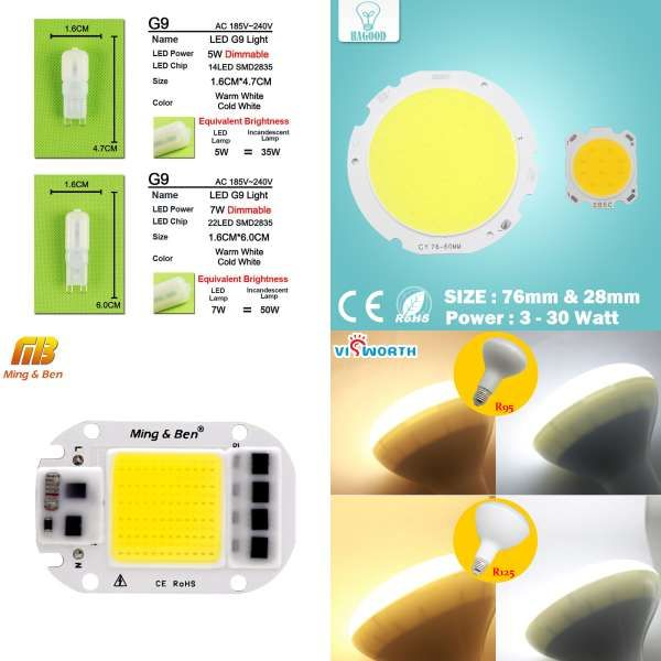 Lights & Lighting Smart Ic High Power Led Matrix For Projectors 20w 30w 50w 110v 220v Diy Flood Light Cob Led Diode Spotlight Outdoor Chip Lamp