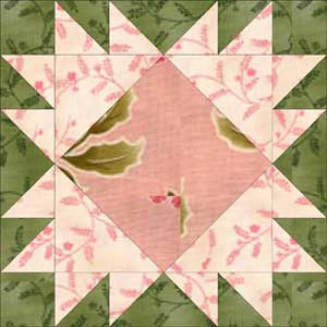 Free Quilt Block Patterns, F through L: King's Crown Quilt Block Pattern - 12""