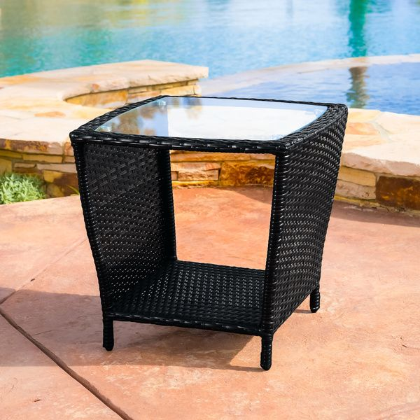 Overstock Com Online Shopping Bedding Furniture Electronics Jewelry Clothing More Wicker Side Table Outdoor Wicker Outdoor Side Table